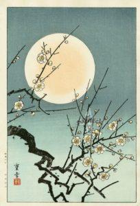 kawase hasui moon blossom